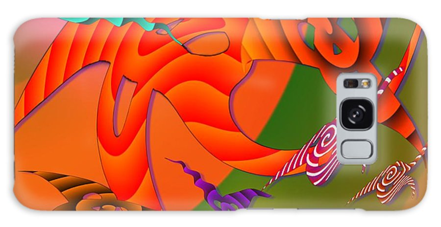 Triangles Galaxy S8 Case featuring the digital art Flying Triangles by Helmut Rottler