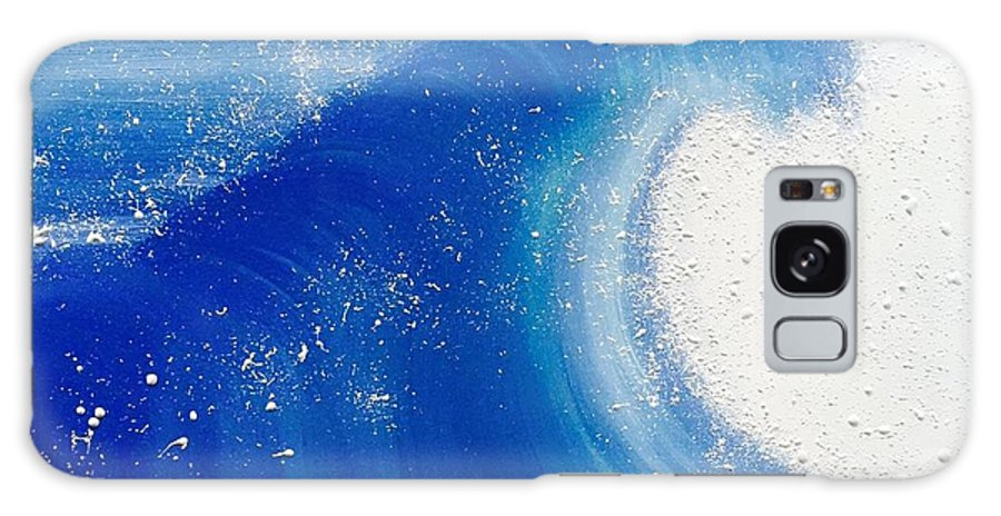 Surf Galaxy S8 Case featuring the painting Foam by Debra Ryan