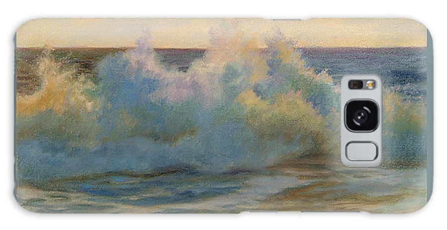Waves Galaxy S8 Case featuring the painting Foaming Ocean Waves by Phyllis Tarlow