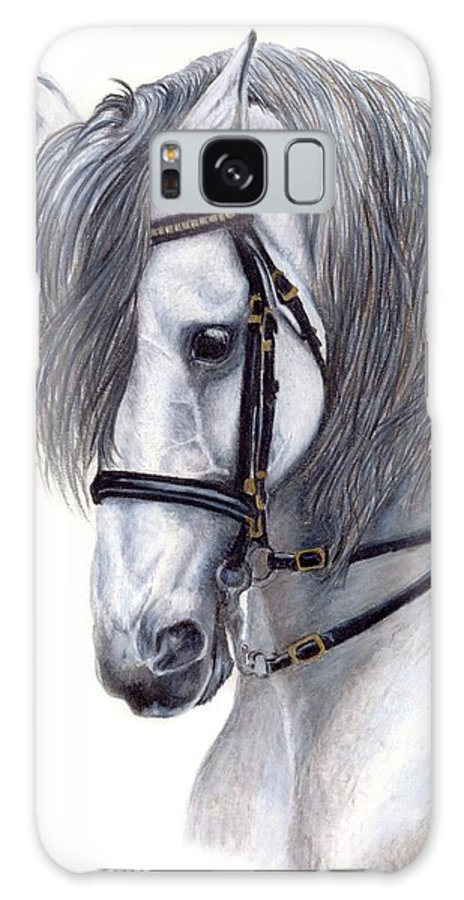 Horse Galaxy S8 Case featuring the drawing Focus by Kristen Wesch