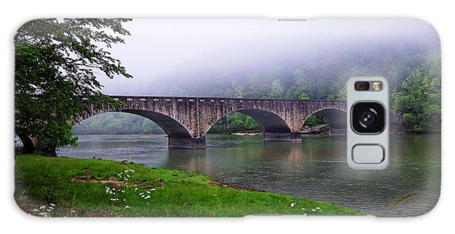 Bridge Galaxy S8 Case featuring the photograph Foggy Bridge by Lone Dakota Photography