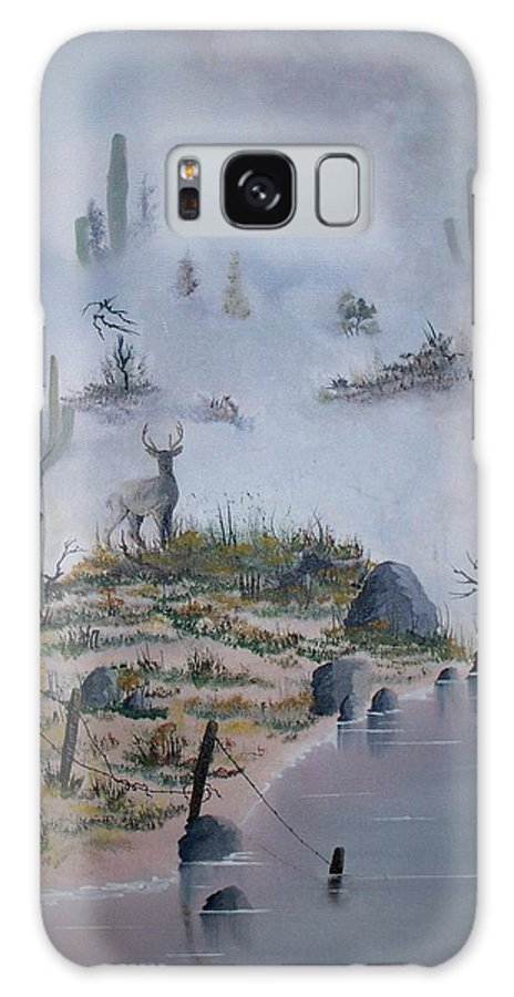 Animals Galaxy S8 Case featuring the painting Foggy Morning by Patrick Trotter