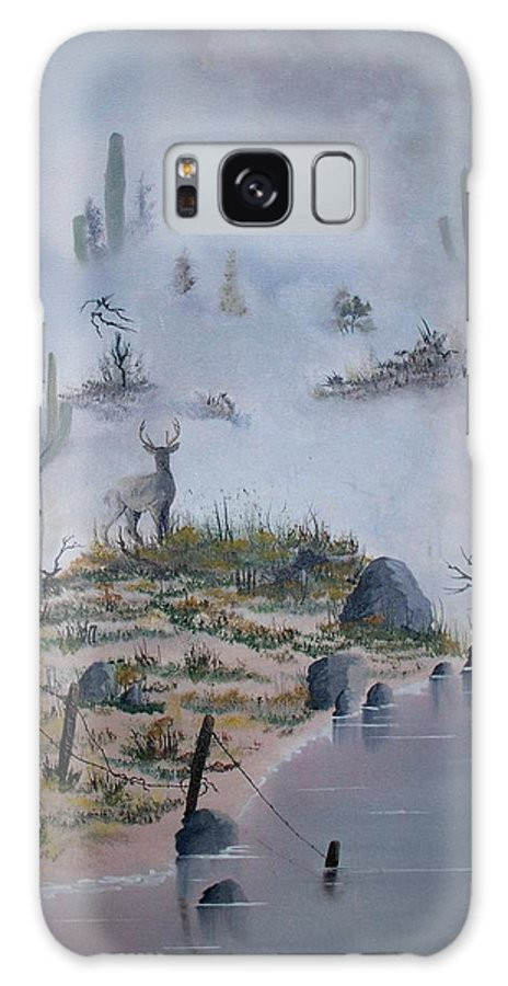 Animals Galaxy Case featuring the painting Foggy Morning by Patrick Trotter