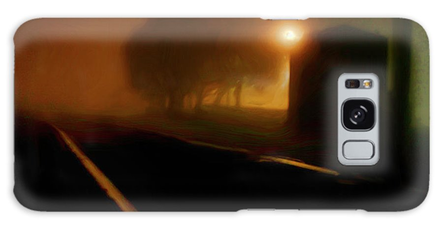 Art Photography Galaxy S8 Case featuring the photograph Foggy Tracks by Blake Richards