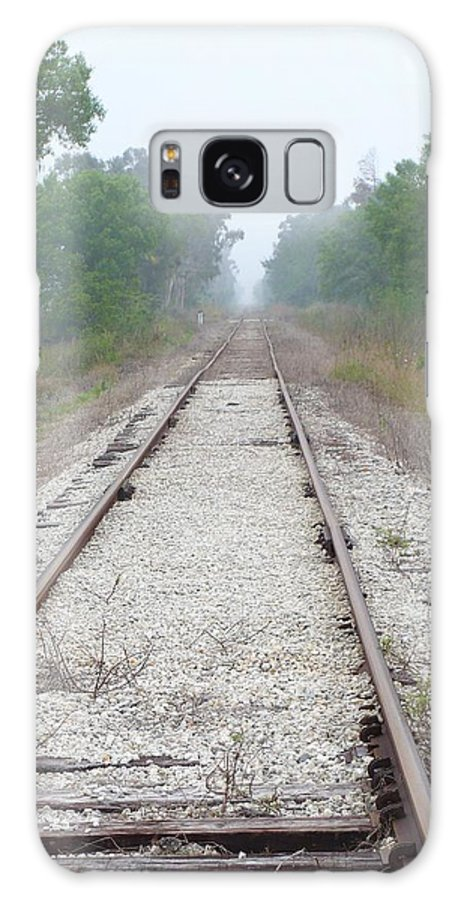 Train Galaxy S8 Case featuring the photograph Foggy Tracks by Florene Welebny