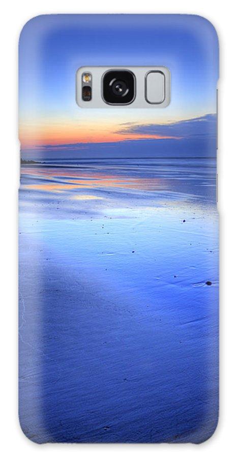Folly Beach Lowcountry South Carolina Landscape Sunrise Couds Water Beach Night Hdr Morning Dawn Galaxy S8 Case featuring the photograph Folly Beach Dawn II by Dustin K Ryan