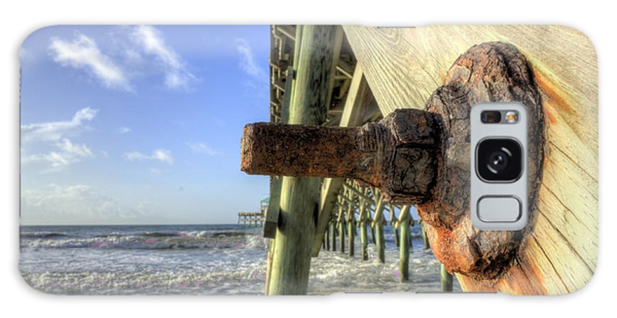 Folly Beach Lowcountry South Carolina Landscape Sunrise Couds Water Beach Night Hdr Dustin Ryan Galaxy S8 Case featuring the photograph Folly Beach Pier Decay by Dustin K Ryan