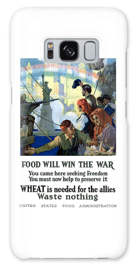 Immigrants Galaxy S8 Case featuring the painting Food Will Win The War by War Is Hell Store