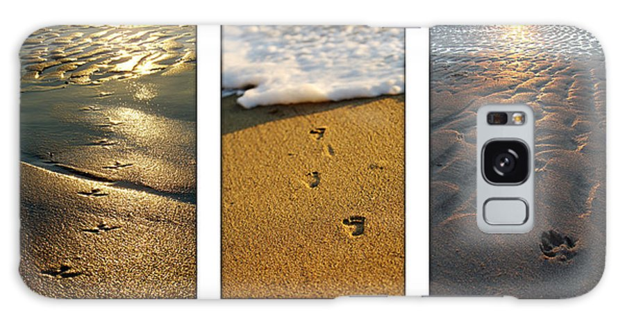 Beach Galaxy S8 Case featuring the photograph Footprints In The Sand by Jill Reger