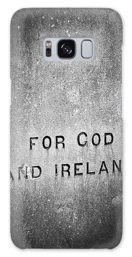 Irish Galaxy Case featuring the photograph For God And Ireland Macroom Ireland by Teresa Mucha