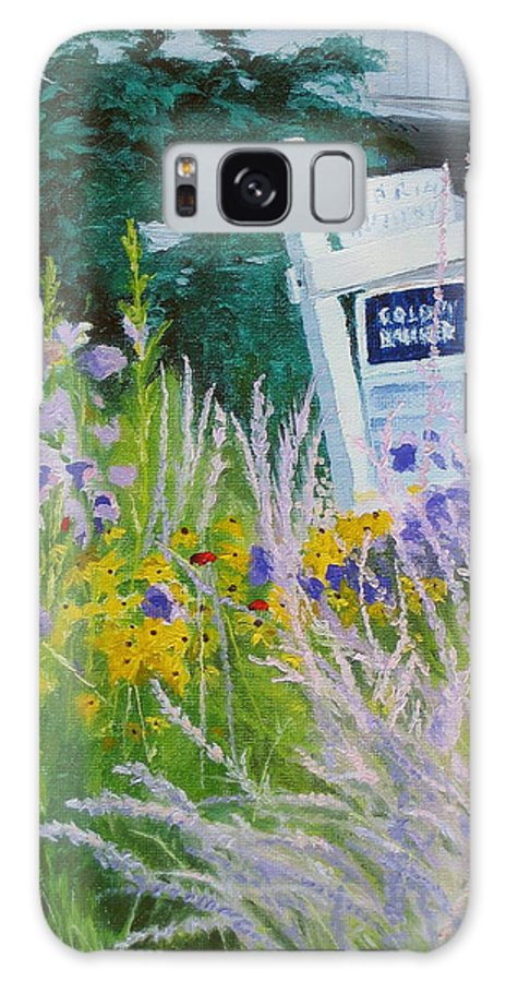 Landscape Galaxy S8 Case featuring the painting For Sale - A Patch Of Paradise by Lea Novak