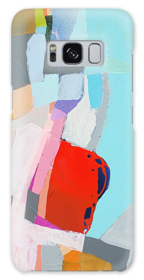 Abstract Galaxy S8 Case featuring the painting For What You Are by Claire Desjardins