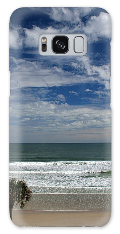 Beach Sky Cloud Clouds Blue Water Wave Waves Palmtree Tree Palm Sand Sun Sunny Vacation Travel Galaxy S8 Case featuring the photograph For Your Pleasure by Andrei Shliakhau