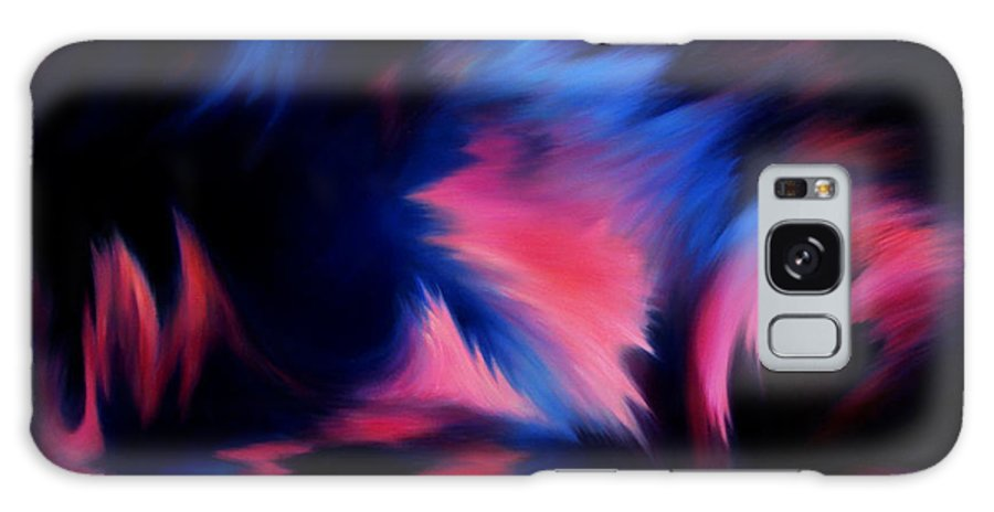Abstract Galaxy Case featuring the painting Forbidden Words by Rachel Christine Nowicki
