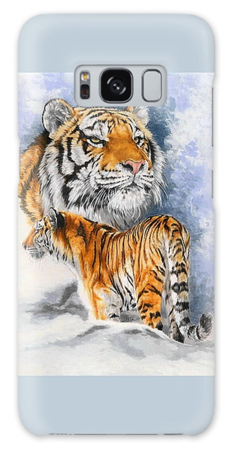 Big Cats Galaxy S8 Case featuring the mixed media Forceful by Barbara Keith