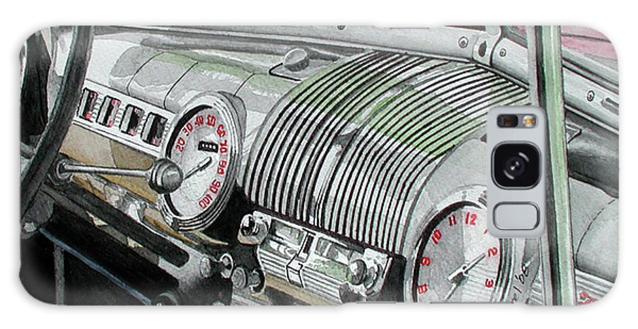 Car Galaxy Case featuring the painting Ford Dash by Ferrel Cordle