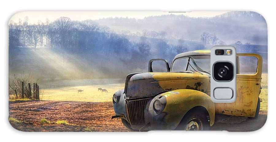 Appalachia Galaxy Case featuring the photograph Ford in the Fog by Debra and Dave Vanderlaan