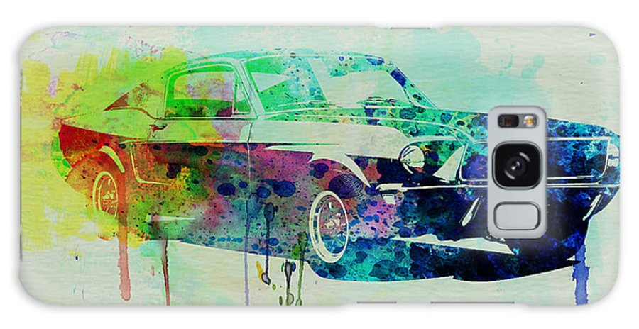 Ford Mustang Galaxy S8 Case featuring the painting Ford Mustang Watercolor 2 by Naxart Studio