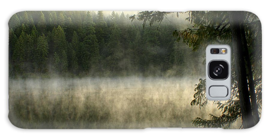 Fog Galaxy S8 Case featuring the photograph Forest And Fog by Idaho Scenic Images Linda Lantzy