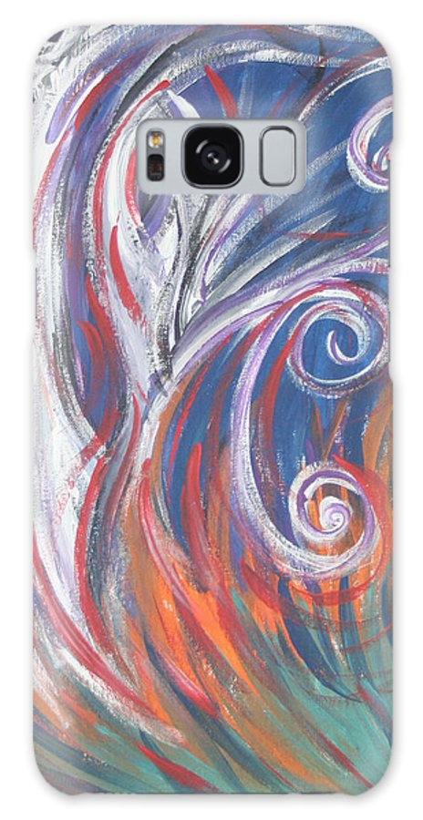Forest Galaxy S8 Case featuring the painting Forest Fire by Jessica Kauffman