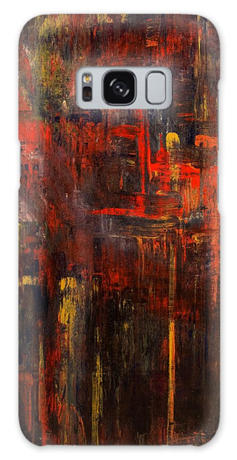 Abstract Galaxy Case featuring the painting Forest Fire by Laura Warburton