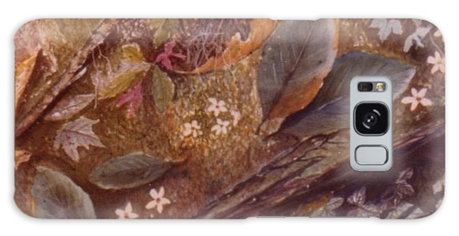 Leaves; Forest; Flowers Galaxy Case featuring the painting Forest Floor by Ben Kiger