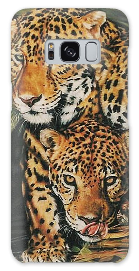 Jaguar Galaxy Case featuring the pastel Forest Jewels by Barbara Keith