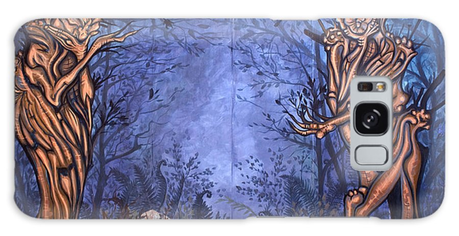 Mystic Galaxy S8 Case featuring the painting Forest by Judy Henninger