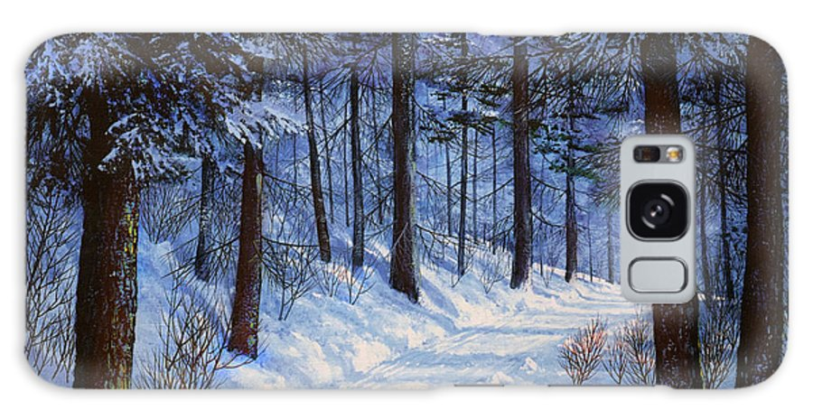 Landscape Galaxy Case featuring the painting Forest Road by Frank Wilson