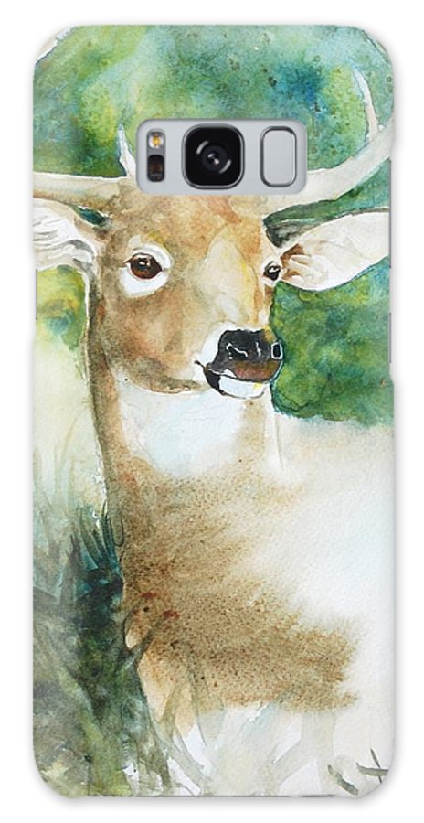 Deer Galaxy S8 Case featuring the painting Forest Spirit by Christie Martin