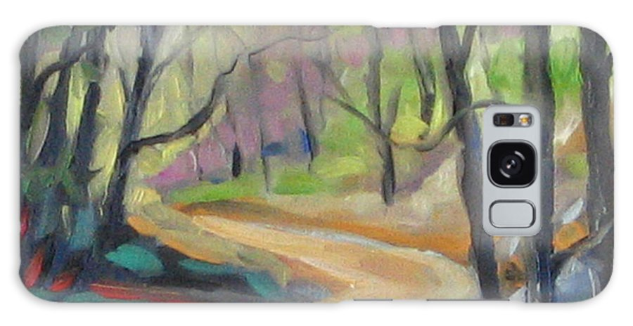Art Galaxy S8 Case featuring the painting Forest Way by Richard T Pranke