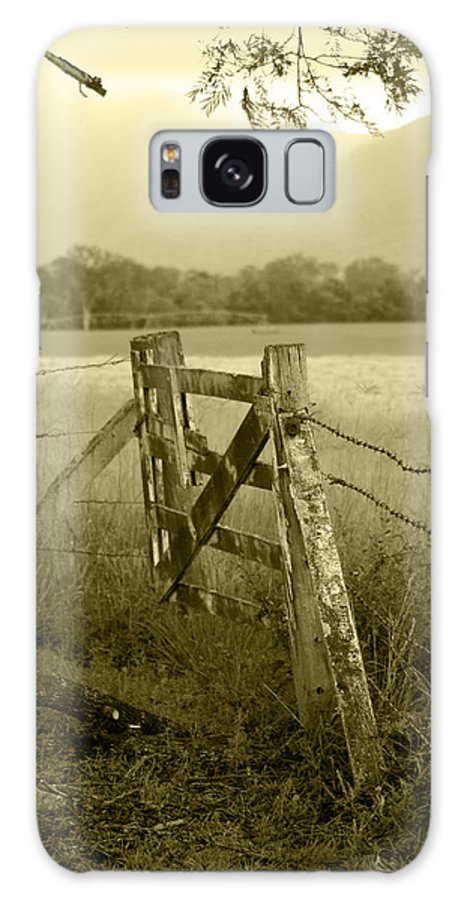 Gate Galaxy S8 Case featuring the photograph Forgotten Fields by Holly Kempe