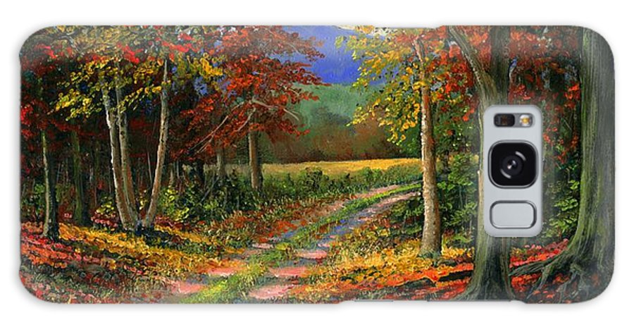 Landscape Galaxy Case featuring the painting Forgotten Road by Frank Wilson