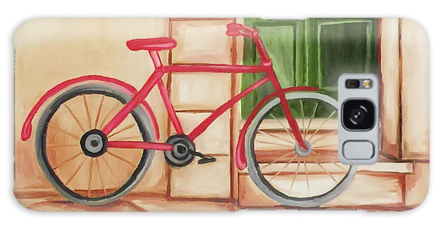 Bike Galaxy S8 Case featuring the painting Forlorn Bike by Beth Erickson