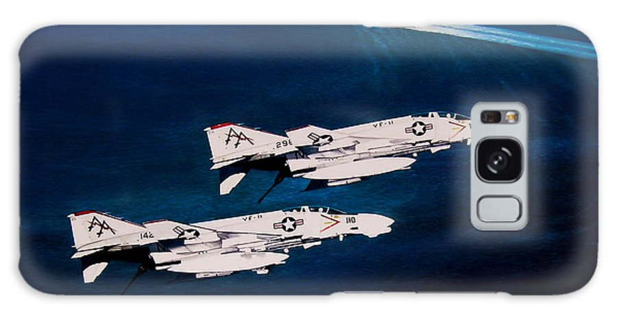 Military Galaxy S8 Case featuring the painting Forrestal S Phantoms by Marc Stewart