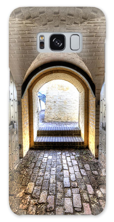 Fort Galaxy S8 Case featuring the photograph Fort Moultrie Bunker Doors by Dustin K Ryan