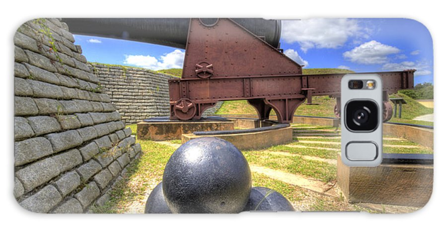 Fort Galaxy S8 Case featuring the photograph Fort Moultrie Cannon Balls by Dustin K Ryan