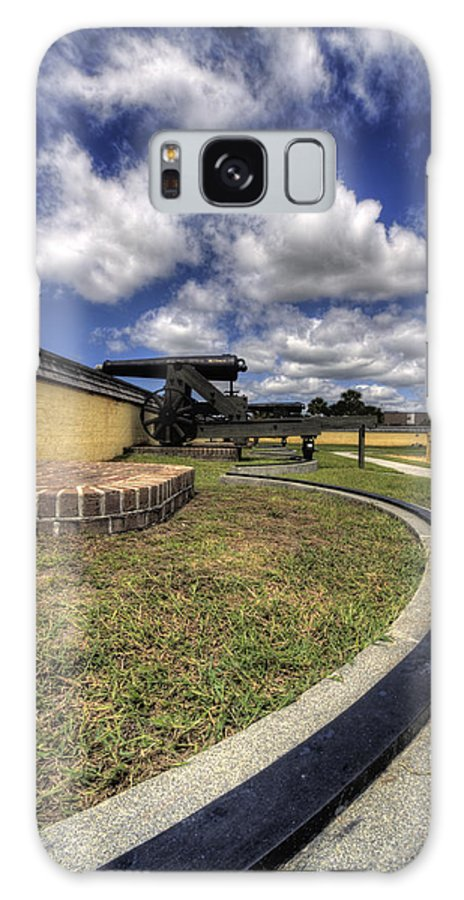 Fort Galaxy S8 Case featuring the photograph Fort Moultrie Cannon Rails by Dustin K Ryan