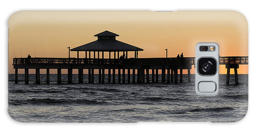 Sunset Galaxy S8 Case featuring the photograph Fort Myers Beach Pier Sunset by Keith Lovejoy