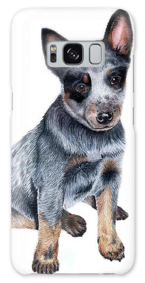Dog Galaxy S8 Case featuring the drawing Foster by Kristen Wesch