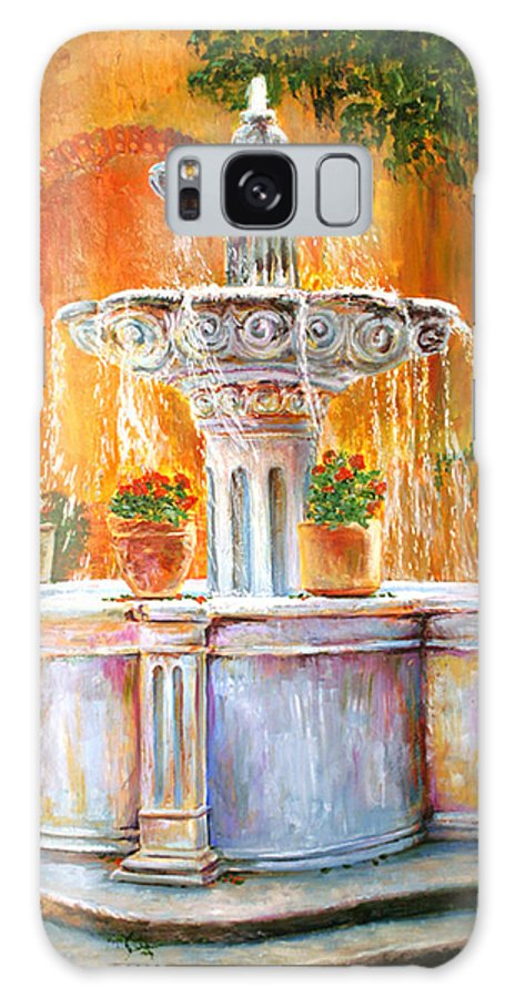 Fountain Galaxy S8 Case featuring the painting Fountain Of Truth by Alan Schwartz