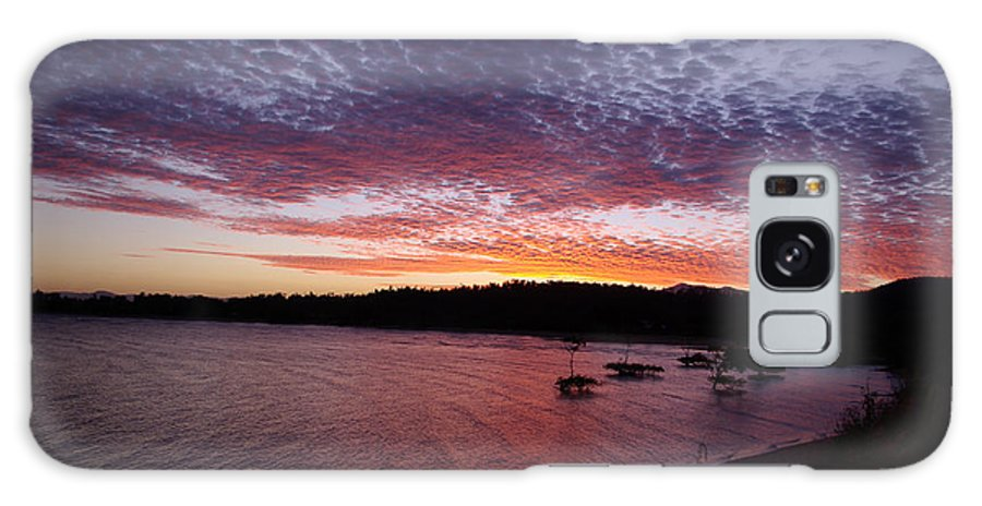 Landscape Galaxy S8 Case featuring the photograph Four Elements Sunset Sequence 1 Coconuts Qld by Kerryn Madsen - Pietsch