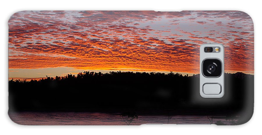 Landscape Galaxy Case featuring the photograph Four Elements Sunset Sequence 2 Coconuts Qld by Kerryn Madsen - Pietsch
