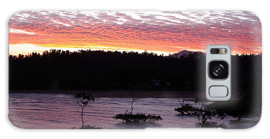 Landscape Galaxy Case featuring the photograph Four Elements Sunset Sequence 8 Coconuts Qld by Kerryn Madsen - Pietsch