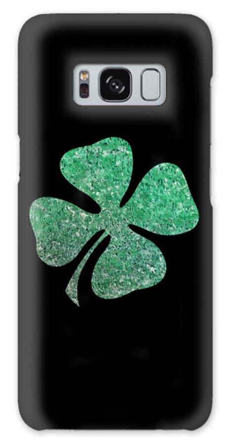 Four Leaf Clover Galaxy S8 Case featuring the painting Four Leaf Clover by Rachel Hannah