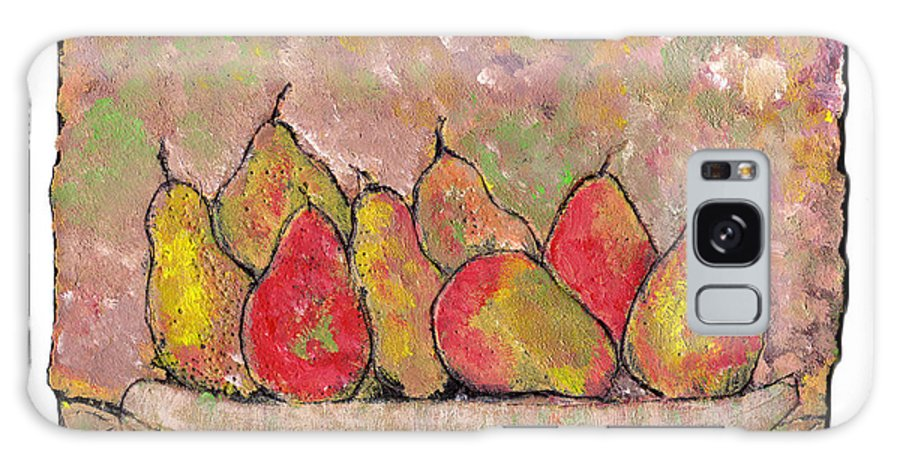 Pears Galaxy S8 Case featuring the painting Four Pair Of Pears by Wayne Potrafka