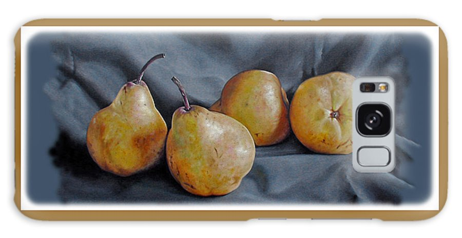 Pear Galaxy S8 Case featuring the painting Four Pears by Kathryn Houghton