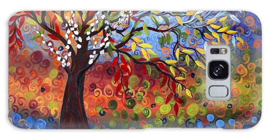 Art Galaxy S8 Case featuring the painting Four Seasons by Luiza Vizoli