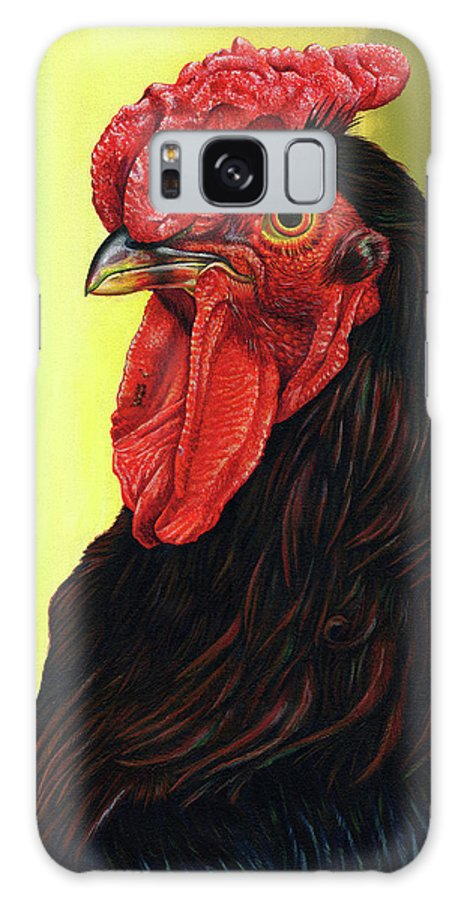 Rhode Galaxy S8 Case featuring the painting Fowl Emperor by Cara Bevan