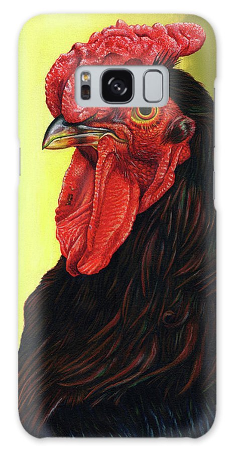 Rhode Galaxy Case featuring the painting Fowl Emperor by Cara Bevan